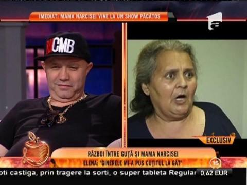 """Război între Nicolae Guţă şi mama Narcisei: """"Mi-a pus cuţitul la gât!"""""""