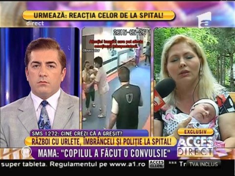 """Marcela Chira, mama implicată în scandalul de la Spitalul Marie Curie: """"Copilul a făcut convulsie"""""""