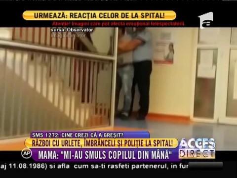 Scandal cu urlete, îmbrânceli și poliție, la Spitalul Marie Curie din Capitală!