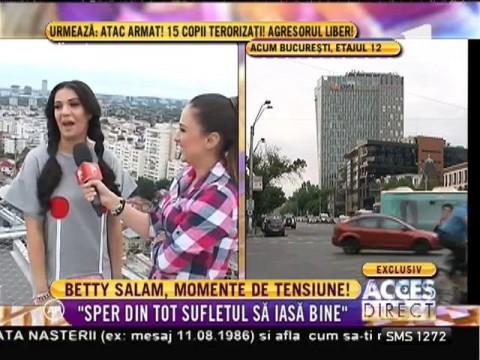 Betty Salam, pe acoperişul uneia dintre cele mai înalte clădiri din Bucureşti!