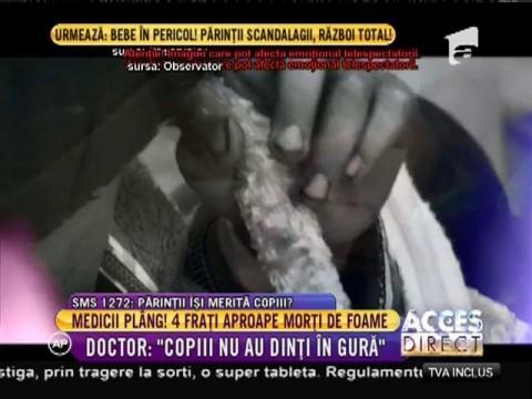 Patru fraţi au ajuns într-o stare deplorabilă la spitalul din Bicaz