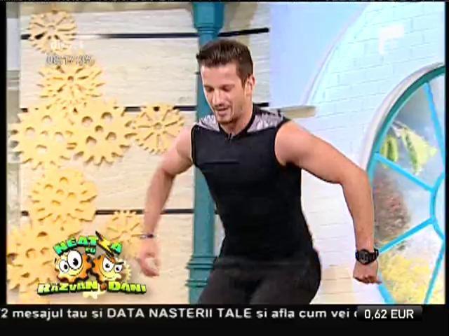 """Fitness la Neatza! Antrenament în parteneriat, cu Florin Neby și """"sexy"""" Anne"""