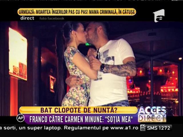 """Franco, către fiica lui Adi Minune: """"Soția mea!"""""""