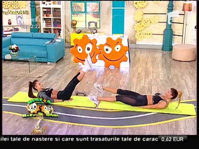 Fitness la Neatza! Antrenament pentru un abdomen perfect, cu Bianca și Ane