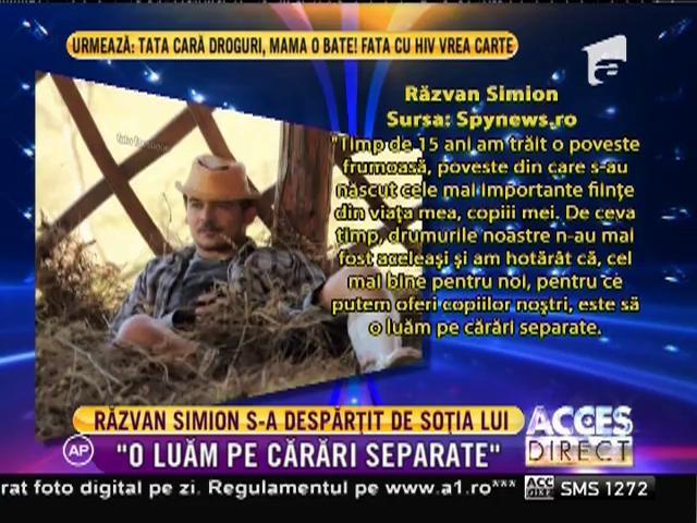 Răzvan Simion, îndrăgitul moderator de la Neatza cu Răzvan şi Dani, s-a despărţit de soţie