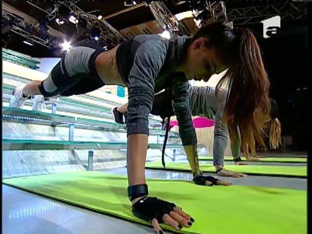 Fitness la Neatza! Antrenament pe scări, cu Bianca și Ane