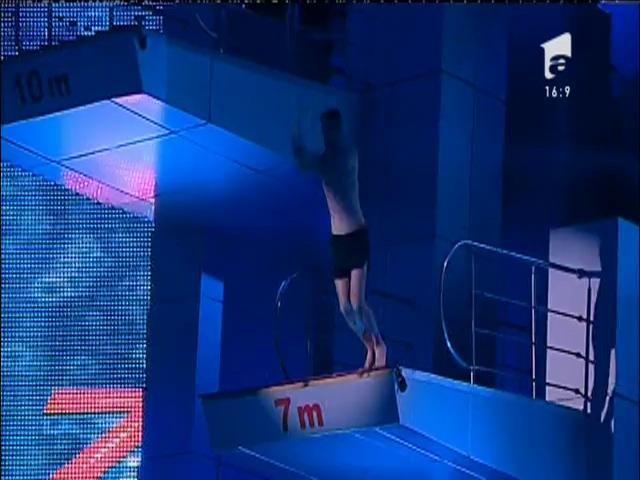 Ce săritură, oameni buni, ce săritură! Florin Neby, salt spectaculos pe platforma de 10 metri