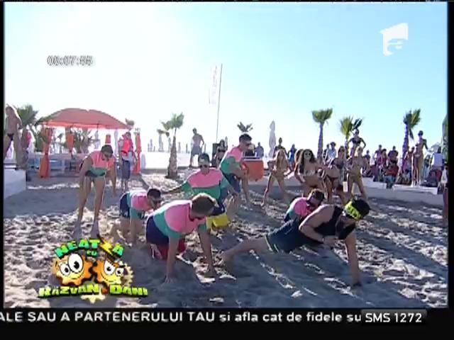 """Antrenament de senzaţie la malul mării! Ce exerciţii vă propune Florin Neby, instructorul de la """"Neatza"""""""
