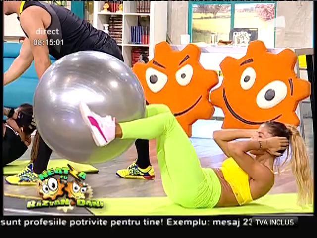 Fitness la Neatza! Exerciții cu mingea de gimnastică