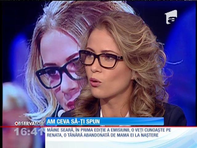 """""""Am ceva să-ţi spun"""" debutează joi, de la 20:30, la Antena 1! Sonia Simionov: """"Sunt poveşti impresionante. Este un show unde oamenii au drepturi """""""