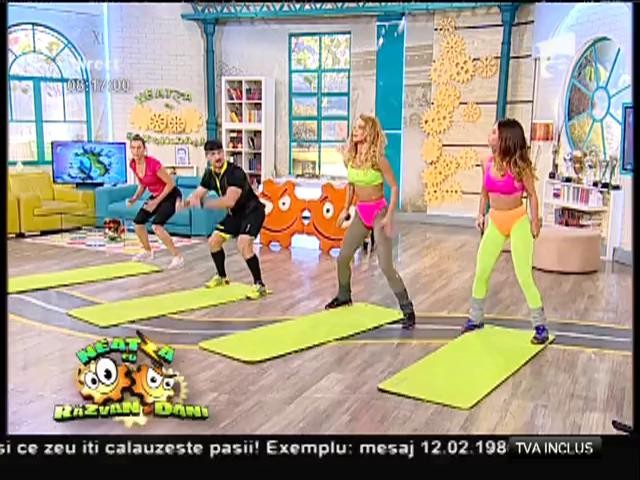 Fitness la Neatza! Fetele sexy, Flavia şi Miruna, antrenament super sexy