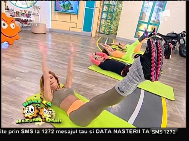 Fitness la Neatza! Exerciții pentru mușchii principali