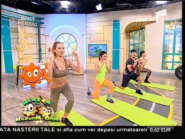 Fitness la Neatza! Antrenament care îmbină mișcări din mai multe sporturi
