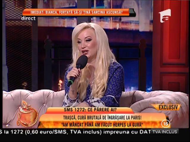 """Simona Trașcă s-a îngrășat 10 kilograme: """"Am mâncat până am făcut herpes la gură!"""""""