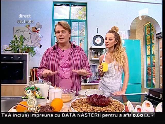 """Prăjitura """"Armonia"""", o combinaţie armonioasă de ingrediente delicioase: cicolată, lapte și vișine"""