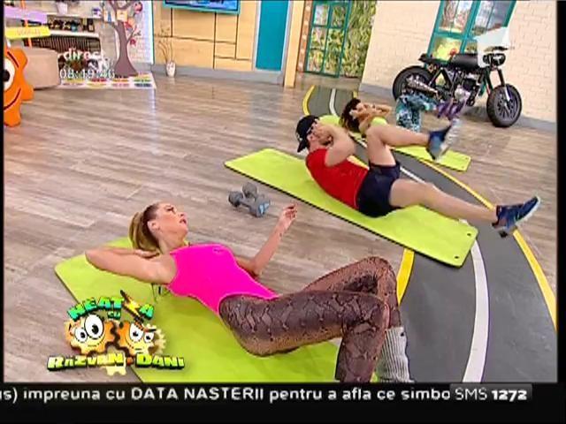 Fitness la Neatza! Antrenament intens pentru o siluetă perfectă: Flavia și Miruna îți arată cum să arzi o sută de calorii în patru minute