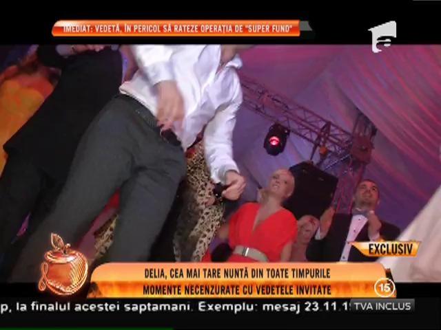 Delia Matache a dansat desculţă la nuntă! Uite cum s-a dezlănţuit alături de Pepe