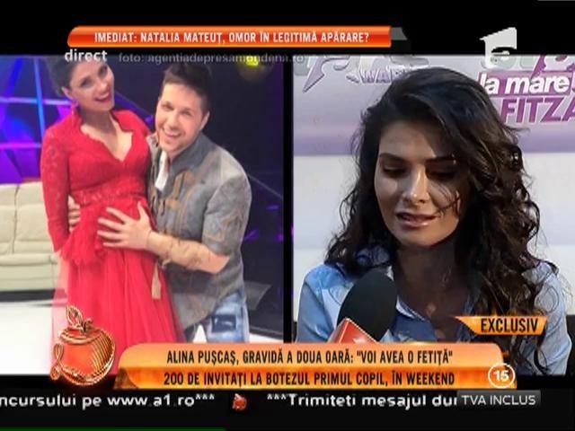 """Alina Puşcaş, însărcinată pentru a doua oară: """"Voi avea o fetiţă!"""""""