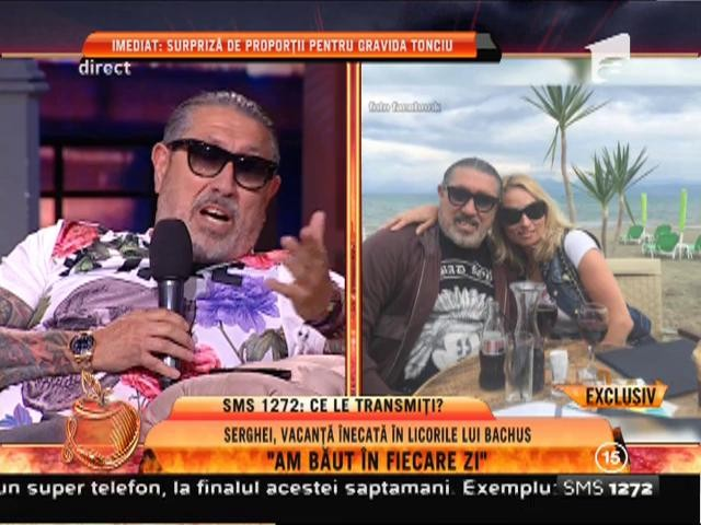 """Serghei Mizil, vacanţă înecată în licorile lui Bachus: """"Am băut în fiecare zi!"""""""
