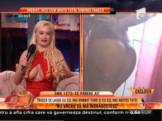 Simona Trașcă se laudă cu cel mai bombat posterior și cu cel mai arătos tată