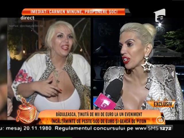 Raluca Bădulescu, ţinută de miide euro la un eveniment