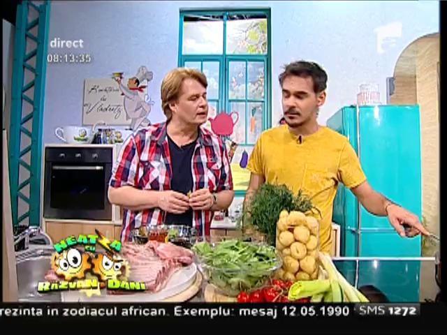 Reţeta lui Vladutz, un deliciu! Coaste romantice cu legume, asezonate cu mărar