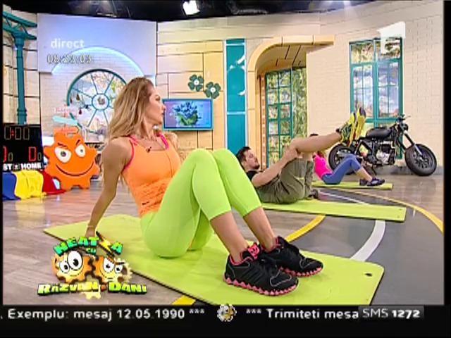 Fitness la Neatza, cu Neby și cele trei fete sexy! O metodă inedită de antrenament pe care o poți face și tu, chiar la tine acasă
