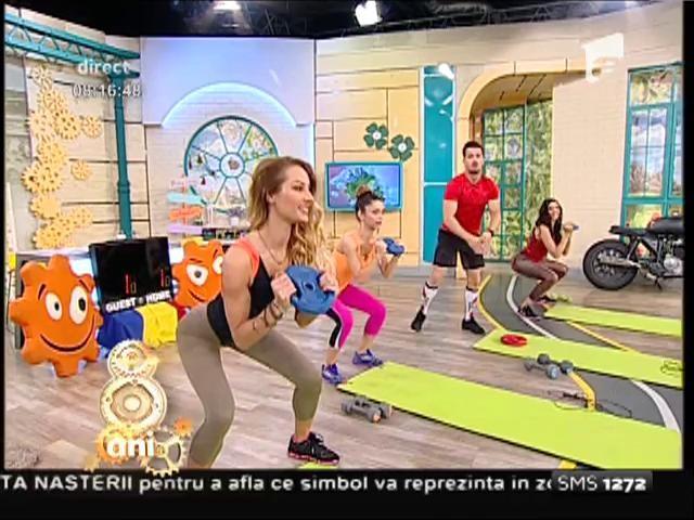 """Toți ochii sunt pe Flavia, Amalia și Miruna!! Antrenament de tip circuit, cu cele mai sexy fete de la """"Neatza"""""""
