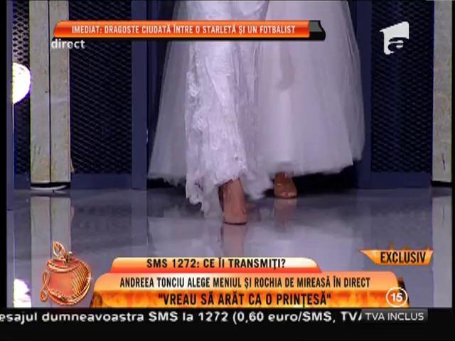 Andreea Tonciu îşi alege rochia de mireasă în direct!