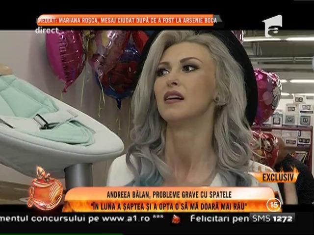 Andreea Bălan are probleme grave cu spatele, în a şaptea lună de sarcină!