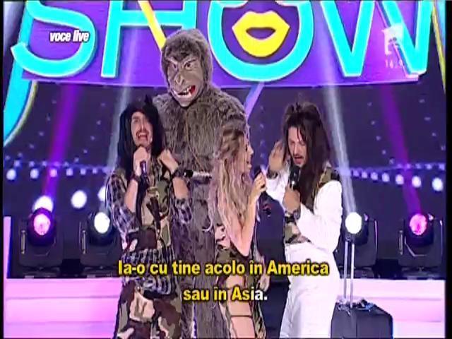 """FANtastic show: """"Ruleta muzicală"""". Liviu Varciu, Lidia Buble și Șerban Copoț au format trupa """"New Asia"""""""