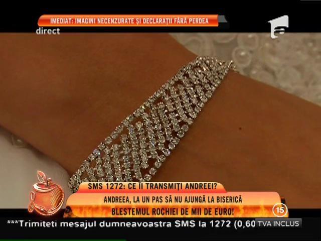 Andreea Tonciu, la un pas să nu ajungă la biserica! Blestemul rochiei de mii de euro!