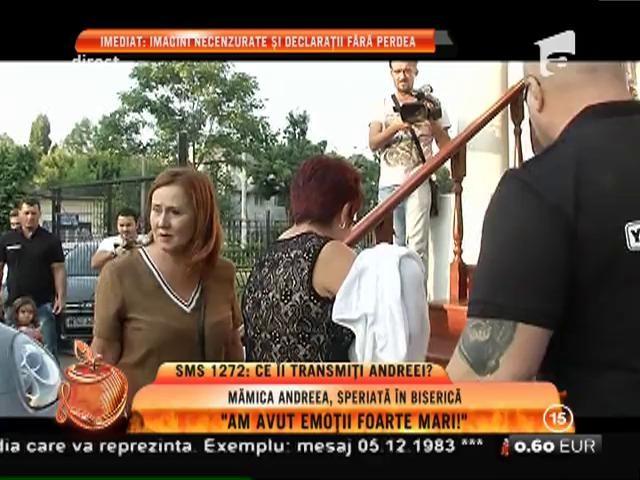 """Mămica Andreea Tonciu, speriată în biserică: """"Am avut emoţii foarte mari!"""""""