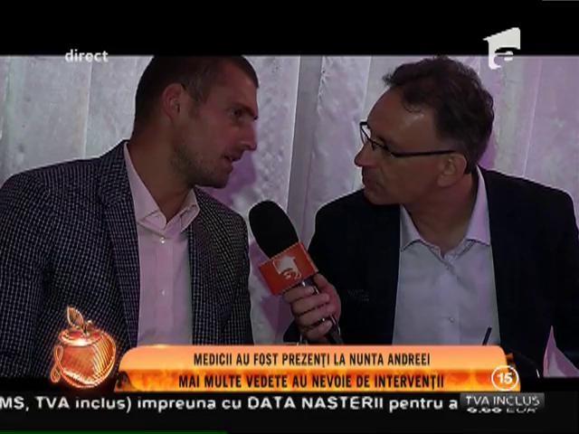 """Gabriel Tamaș """"euforic"""" la nunta Andreei Tonciu: """"vreau să îmi închei cariera în România"""""""
