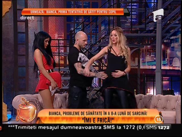 Uite ce burtică are Bianca Drăguşanu, în a 8-a lună de sarcină!