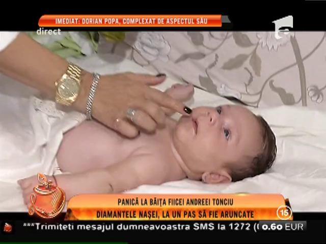 Panică la băiţa fiicei Andreei Tonciu! Diamantele naşei, la un pas să fie aruncate