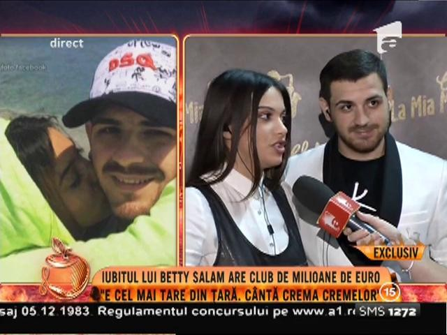Iubitul lui Betty Salam are club de milioane de euro