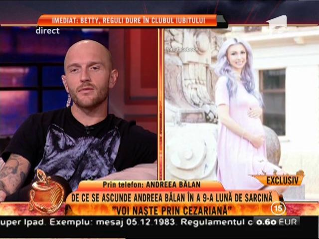 """Andreea Bălan: """"Nu am să fac cu fiica mea cum a făcut tatăl meu cu mine!"""""""