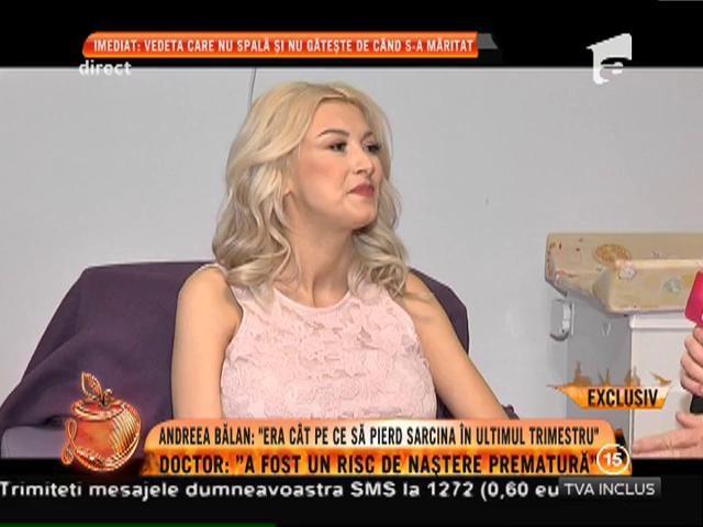 """Andreea Bălan: """"Era cât pe ce să pierd sarcina în ultimul trimestru"""""""
