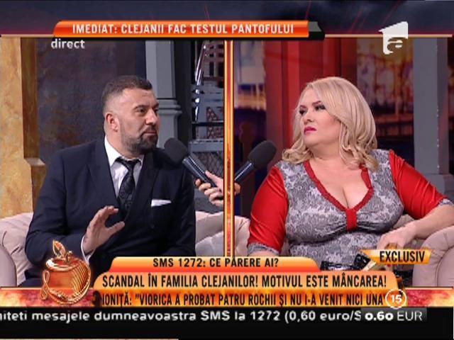 """Scandal în familia Clejanilor din cauza dietei! Ioniţă: """"Viorica a probat patru rochii şi nu i-a venit niciuna!"""""""
