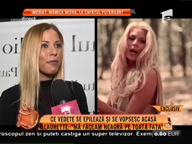 """Laurette: """"Mă făceam neagră pe toată fața"""""""
