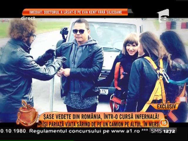 Șase vedete din România îș pariază viața sărind de pe un camion pe altul, în mers!