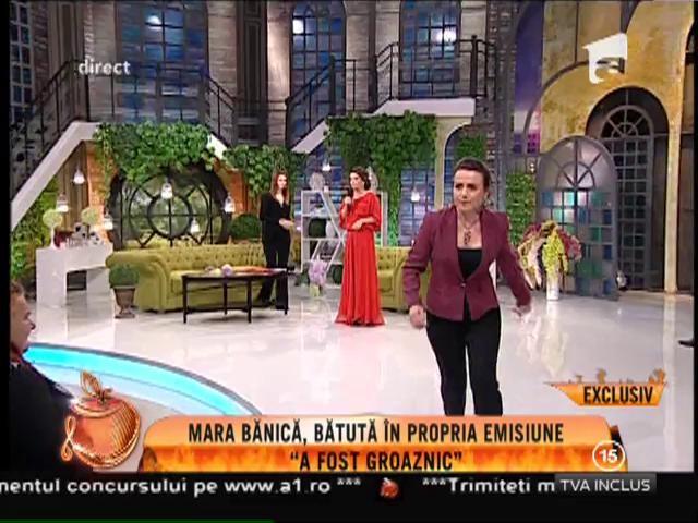Mara Bănică, bătută în propria emisiune