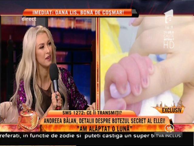"""Andreea Bălan: """"Fetița mea nu plânge deloc!"""""""