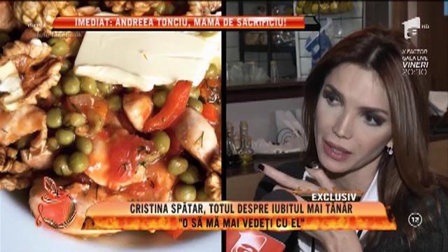 """Cristina Spătar, totul despre iubitul mai tânăr: """"O să mă mai vedeţi cu el"""""""