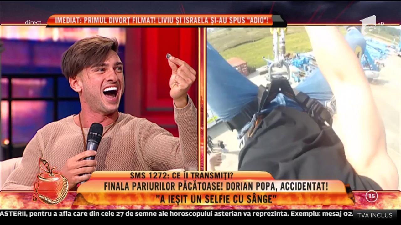 """Dorian Popa s-a accidentat grav: """"Vina a fost a mea. A ieșit un selfie cu sânge!"""""""