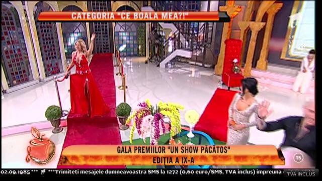 """Gala premiilor """"Un show păcătos"""", ediția a IX-a. Mariana Roșca, câștigătorea categoriei """"Ce boala mea?!"""""""