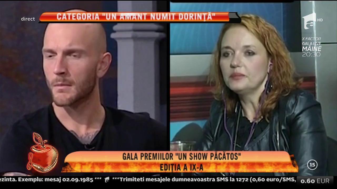 """Gala premiilor """"Un show păcătos"""", ediția a IX-a. Adriana Bahmuțeanu, câștigătorea categoriei """"Un amant numit dorință"""""""