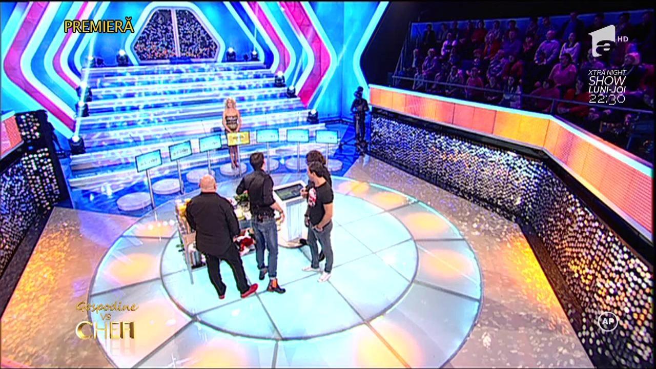 Cătălin Scărlătescu, Sorin Bontea și Florin Dumitrescu, faţă în faţă cu blonda supremă!