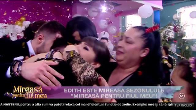 """Edith câștigă marele premiu din sezonul șase """"Mireasă pentru fiul meu""""!"""